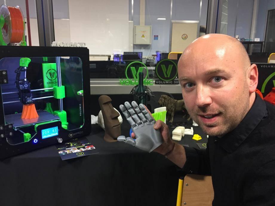 Stéphane Malaussena présentera un tout nouveau modèle d'imprimante 3D en janvier 2020, lors du prochain CES de Las Vegas