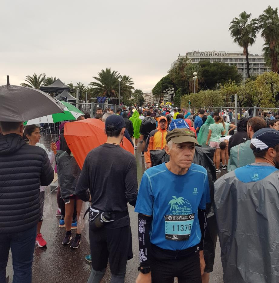 Le départ du marathon a été repoussé.