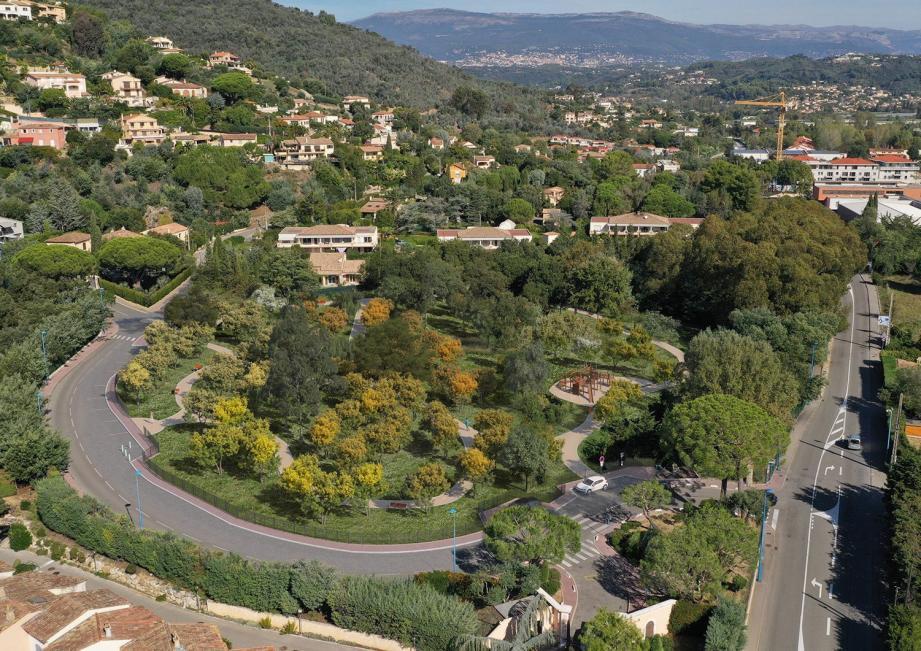 Simulation du futur parc Marande à Mandelieu après travaux.
