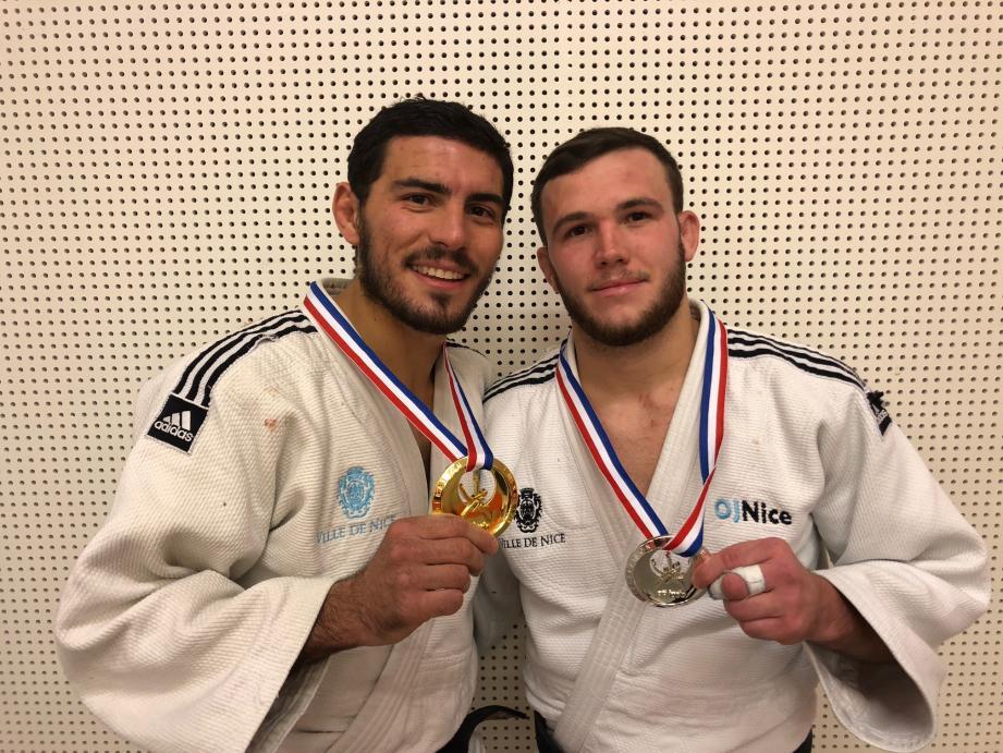 Il y a un an, à Rouen, Luca Otmane (à gauche) et Sacha Flament avaient ramené l'or et l'argent en moins de 73 kg. Ils espèrent faire aussi bien cette saison et marquer les esprits dans l'optique de la qualification aux Jeux.