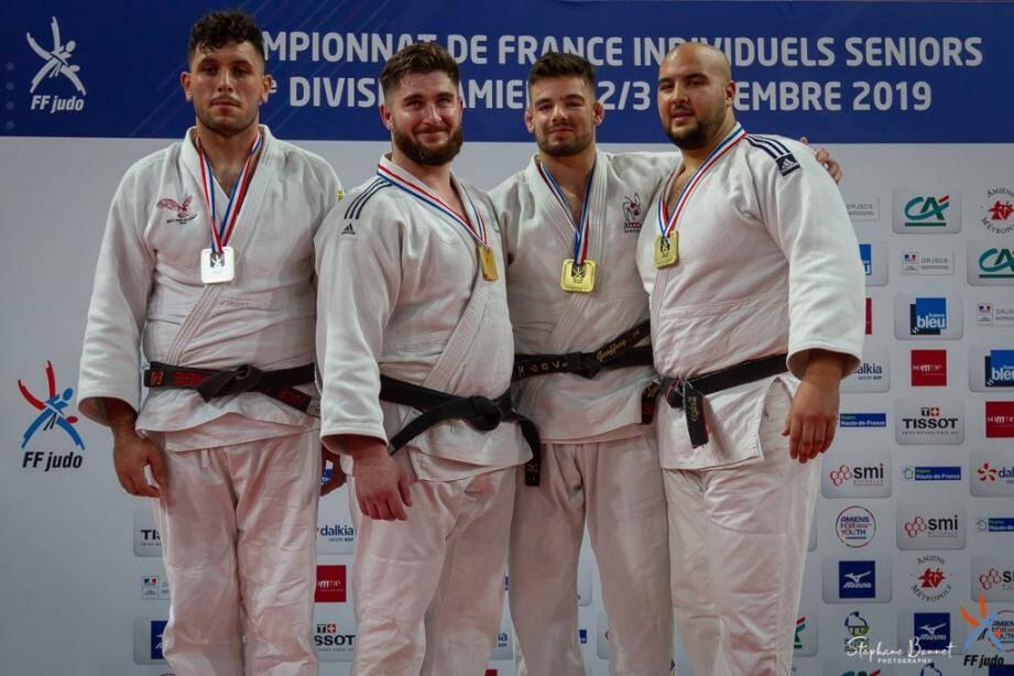 Emre Sanal (tout à gauche, ci-dessus) et Luca Otmane (ci-contre) ont été les seuls médaillés azuréens, ce week-end au Coliseum.