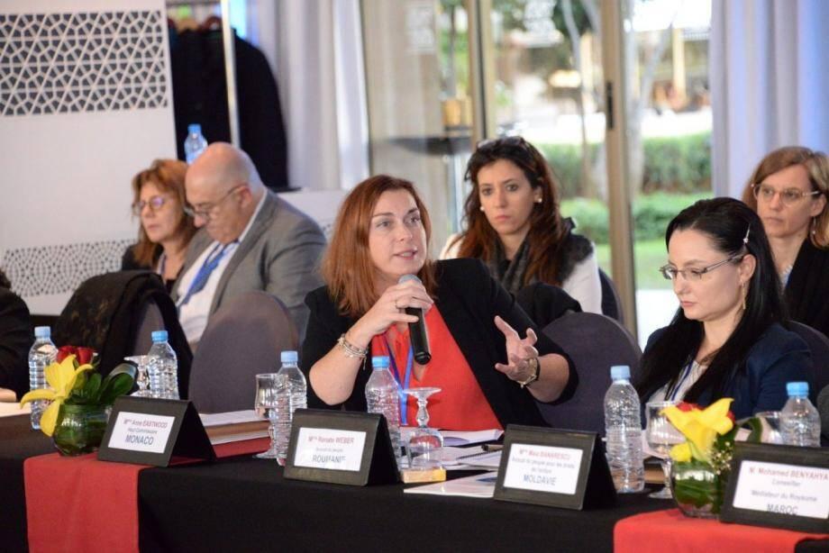 A Rabat, Anne Eastwood a proposé aux parlementaires et médiateurs que Monaco accueille en 2020 la prochaine réunion des instances dirigeantes du réseau francophone.