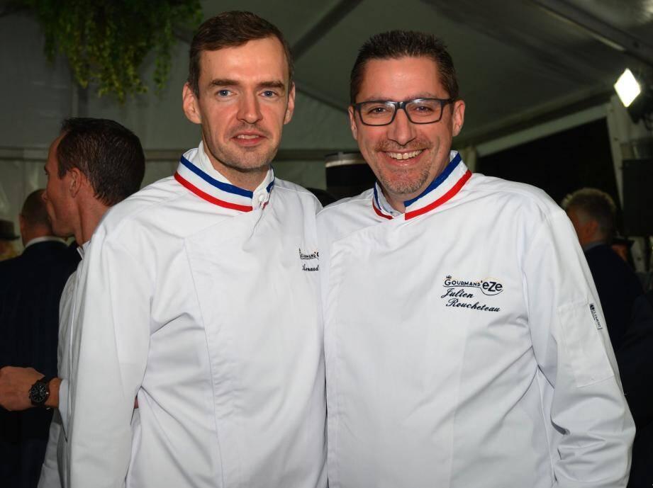 Arnaud Faye et Julien Roucheteau lors du dernier festival des « Gourmand'eze  ».