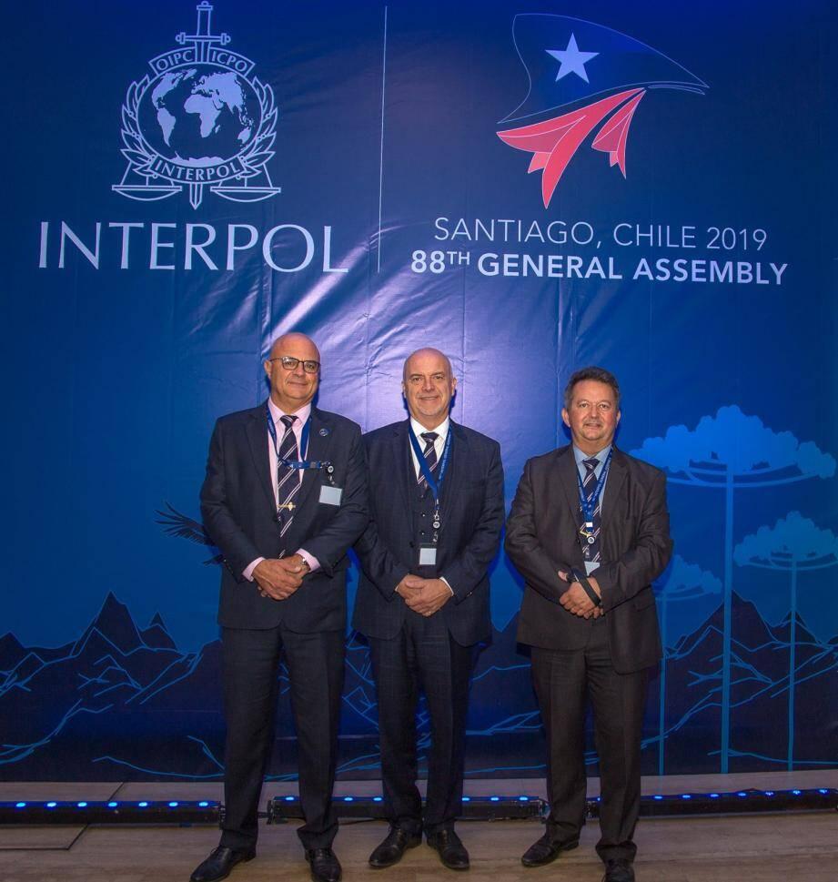 La délégation monégasque (de gauche à droite) : Stéphane Giorgetti, Richard Marangoni et Olivier Jude.(DR)