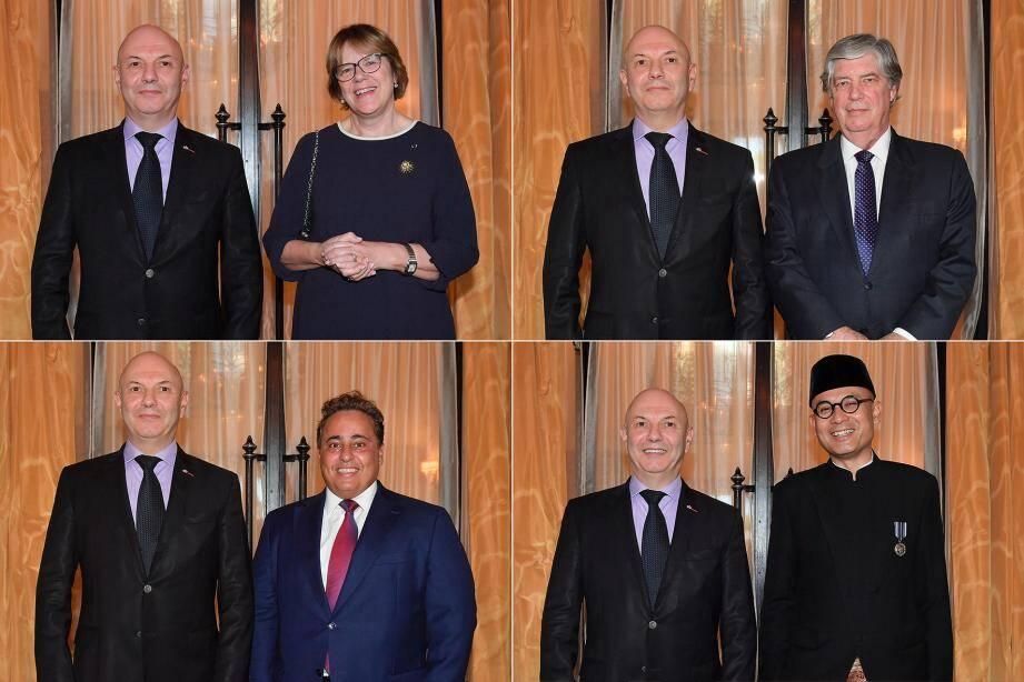 Oda Helen Sletnes, Juan Salazar Sparks, Sheikh Ali Bin Jassim Al-Thani et Arrmanatha Christiawan Nasir.