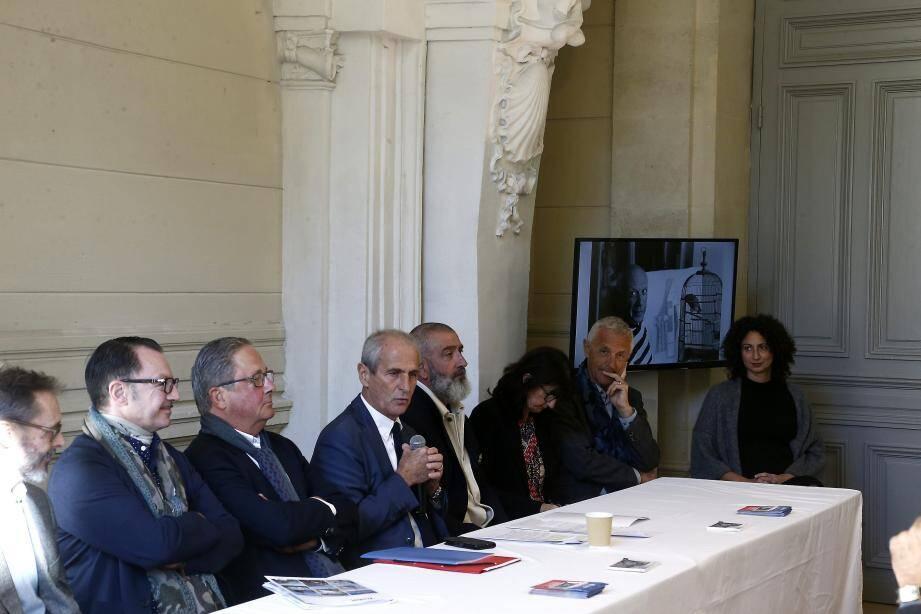 Autour d'Hubert Falco, maire de Toulon, les acteurs de la vie culturelle de la métropole étaient rassemblés lors de la présentation officielle.