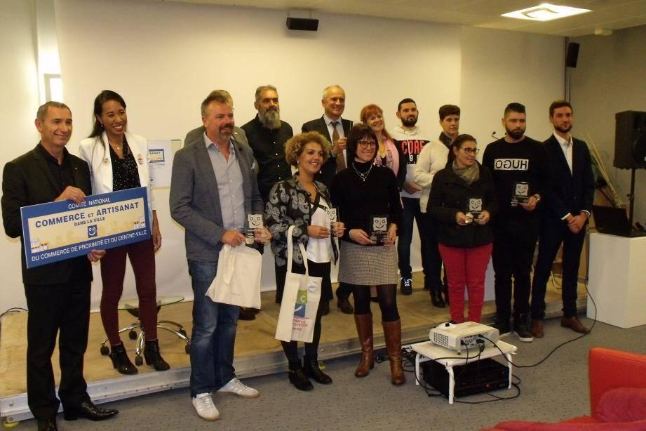 Les trophées ont été remis aux commerçants et artisans locaux.