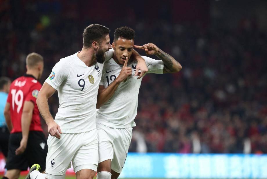 Corentin Tolisso a ouvert le score et inscrit son premier but en équipe de France, hier soir, contre l'Albanie.