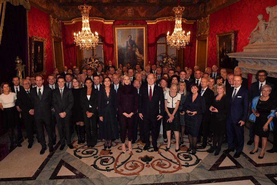 La remise des médailles s'est déroulée dimanche au Palais princier.