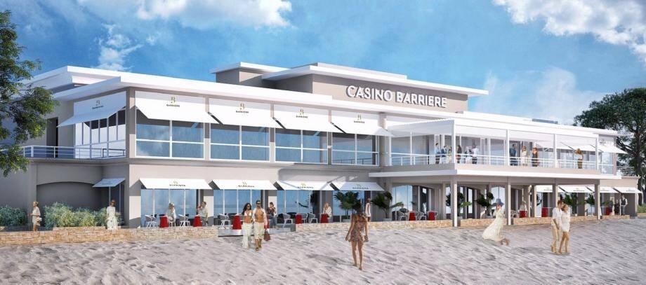 Cette première esquisse donne un aperçu du projet d'aménagement de la façade du casino côté mer, avec une terrasse. (Repro et photos DR et P.O.)