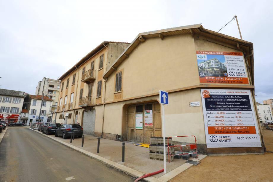 Bd Louis-Négrin à La Bocca, le dispositif BRS va être mis en œuvre pour la première fois dans les Alpes-Maritimes.