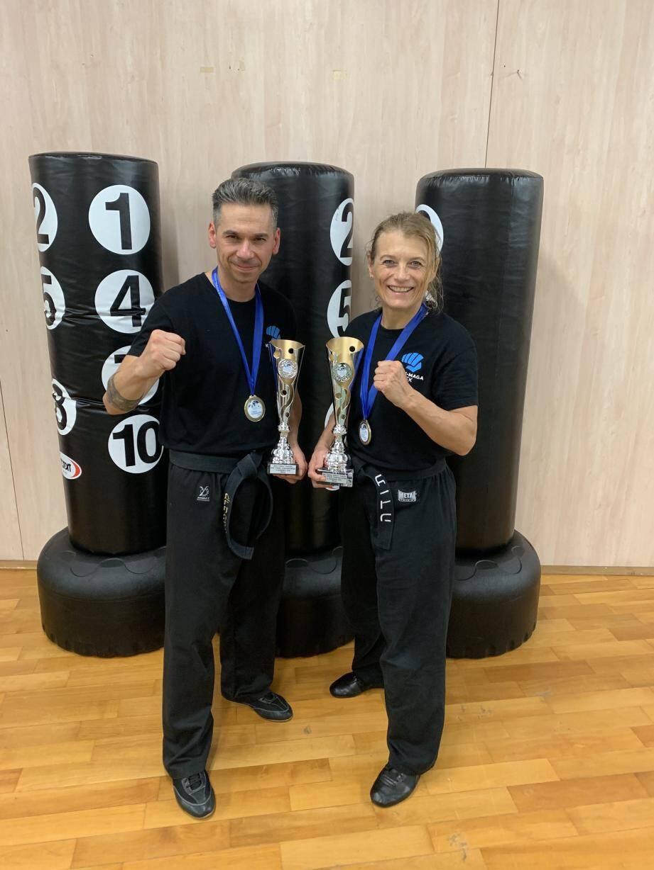 Muriel Dalmais Kitzinger et Eric Perino, médailles de bronze aux championnats du monde de krav-Maga.(DR)
