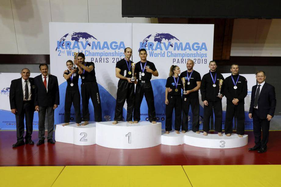 Le duo Wilfried Phan et Julien Quilico ont remporté le titre de champion du monde technique de krav-maga, comme en 2017.(DR)