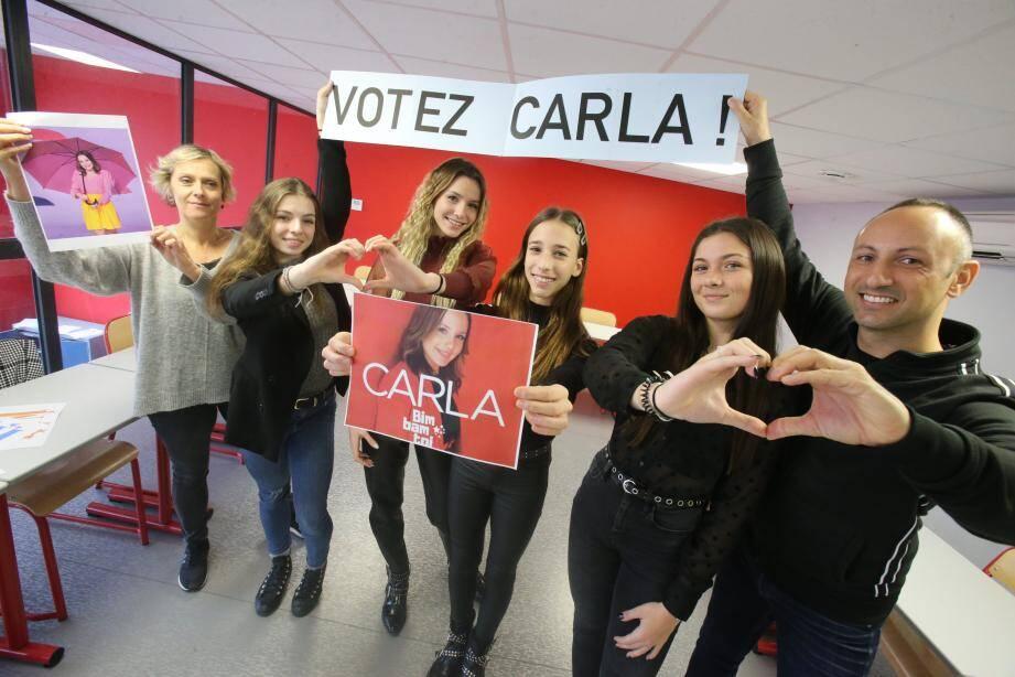 Au collège Don Bosco, Carla peut compter sur un comité de soutien !