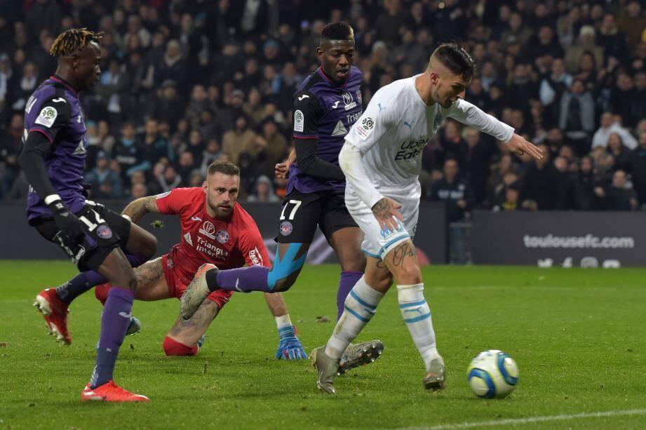 Dario Benedetto a ouvert le score, hier soir. L'Argentin n'avait plus marqué depuis le 4 octobre en Ligue 1. C'était à Amiens lors d'un revers (3-1).