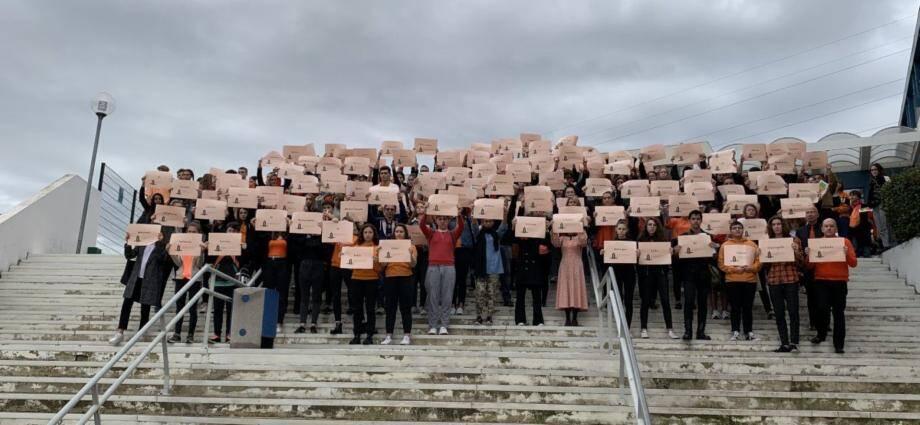 Les quatre lycées publics de la Grasse ont organisé des actions pour la journée internationale pour l'élimination de la violence à l'égard des femmes.