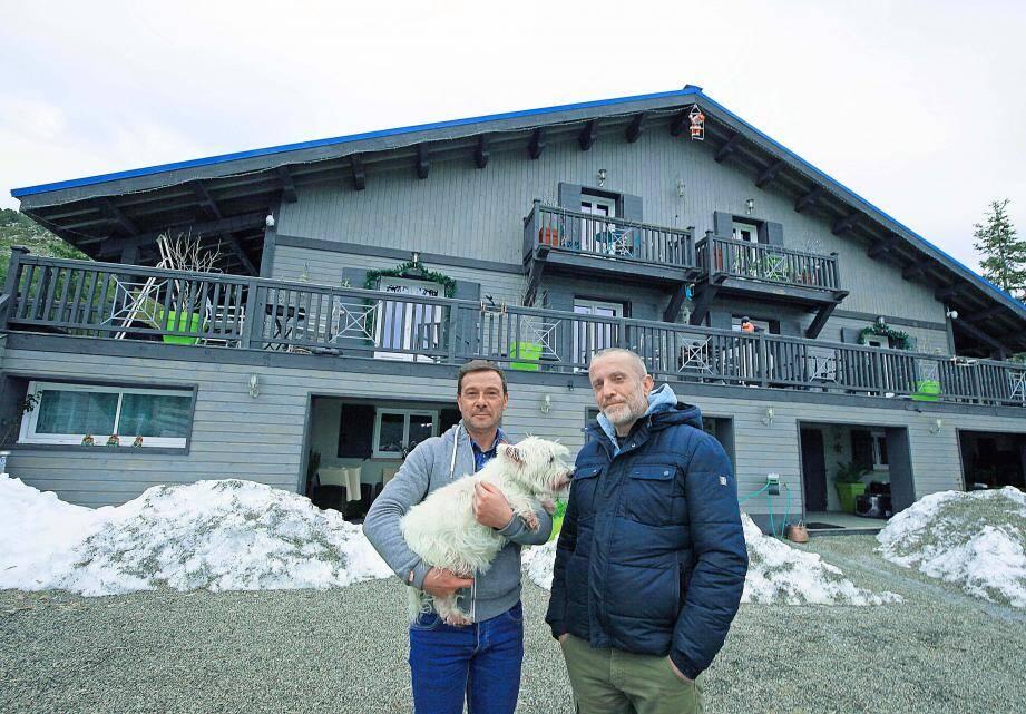 Les propriétaires de l'Alpen Roc à Caille, Cédrick Soria et Stéphane Biehler.