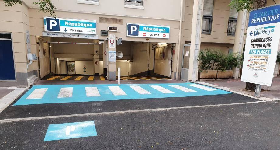 L'entrée du parking République entièrement revisitée.