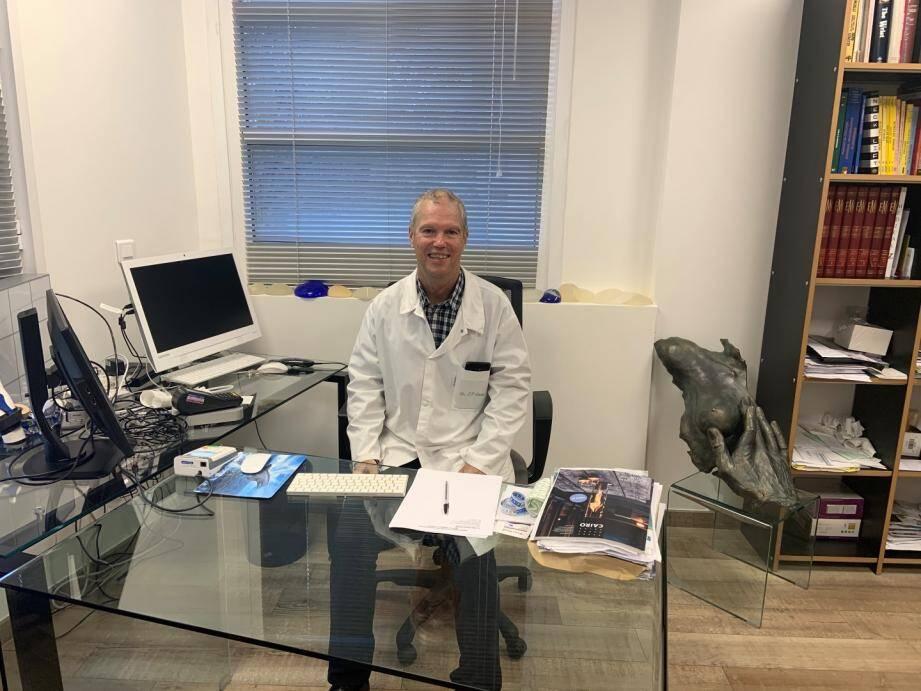 Le nouveau président du TC Grasse, docteur Jean-Pierre Daube. DR