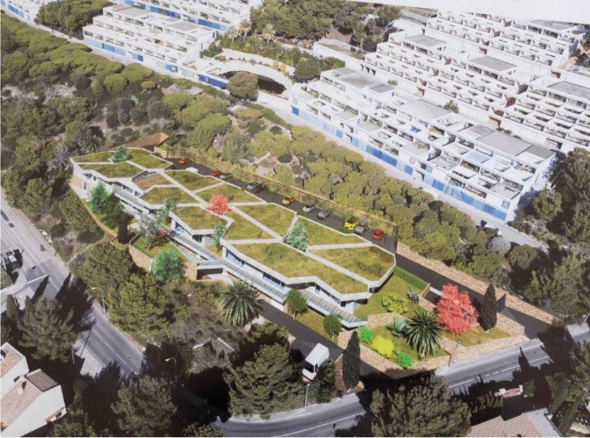 Le nouvel établissement sera construit à Bois-Maurin, sous les Katikias.(Perspective DR)