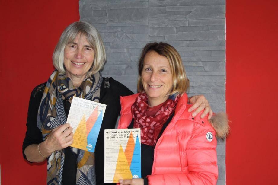 La présidente de Festisports et Annie Laperrousaz et Nadine Guigonnet organisatrice du festival de la montagne, sont prêtes à vous donner envie de découvrir les sommets.