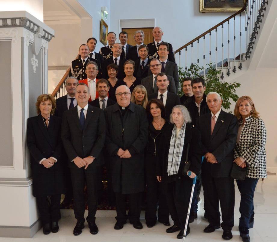Les représentants des institutions ont assisté à la célébration de sainte Cécile.