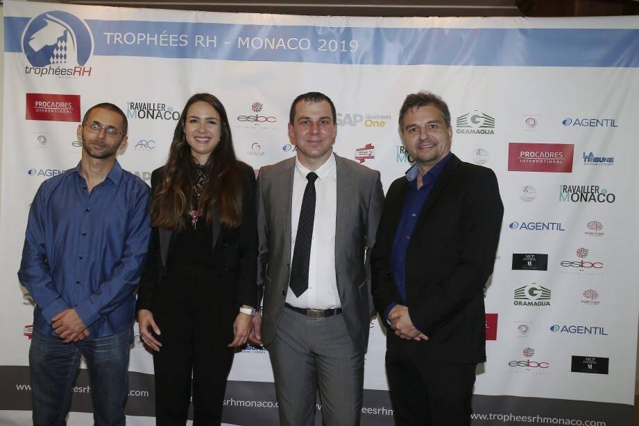 Joël Richmond, Charlène Ureta, Bogdan Dinu et Carlo Casaccia, tous cofondateurs du site « Travailler à Monaco », viennent de décerner les premiers trophées RH.