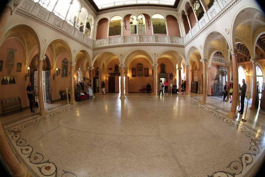 Le patio de la villa Rothschild où se déroulera le concert.