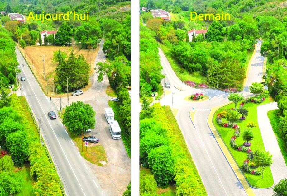 Une simulation du futur aménagement de la rue Yves-Brayer.(DR)