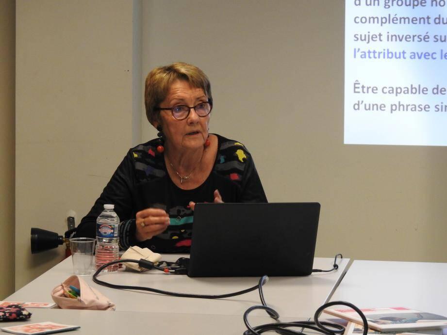 Françoise Picot est désormais inspectrice honoraire de l'Education nationale.