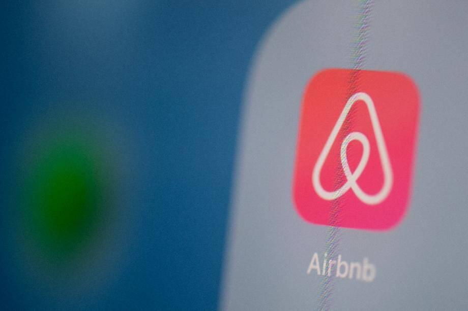 Logo de la plateforme américaine de location et de réservation de logements Airbnb.