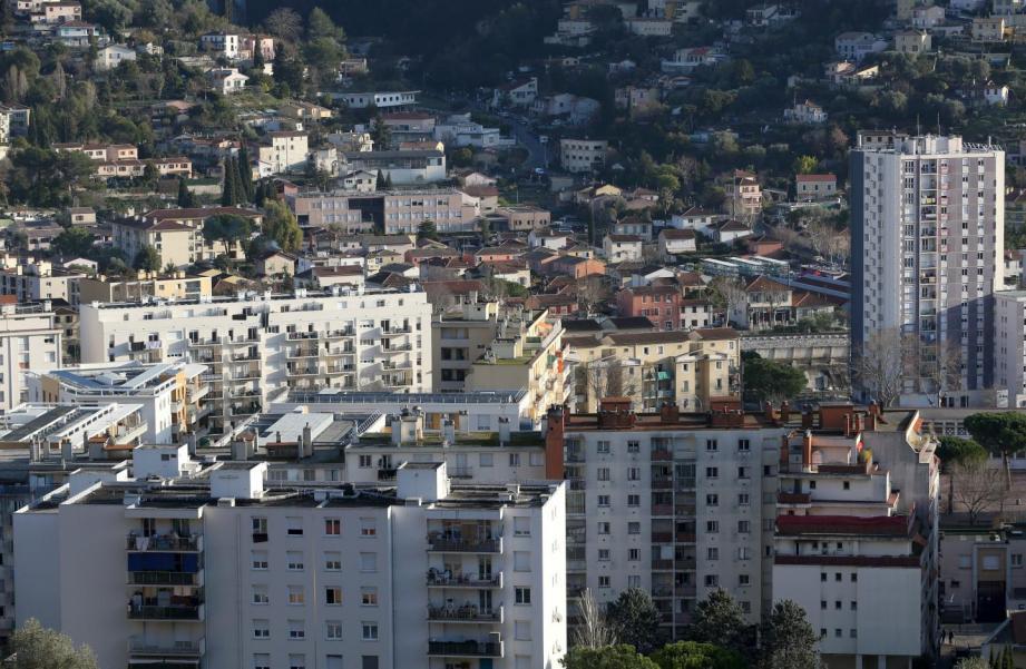Vue du quartier de l'Ariane à Nice.
