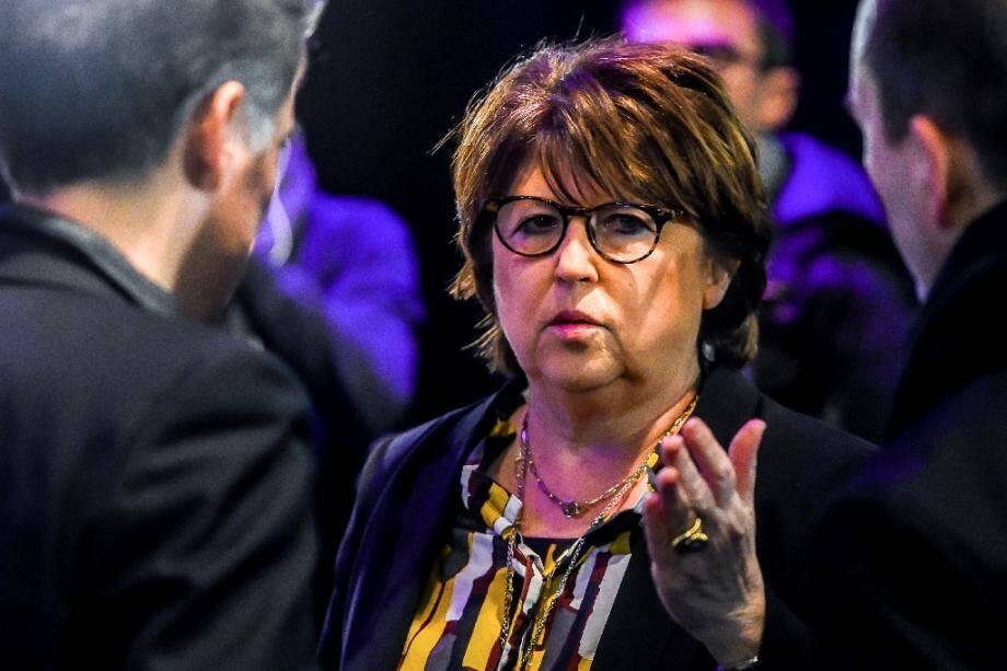 La maire de Lille Martine Aubry à Lille le 22 mars 2018.