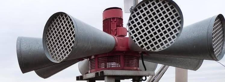 Illustration des sirènes d'alerte.