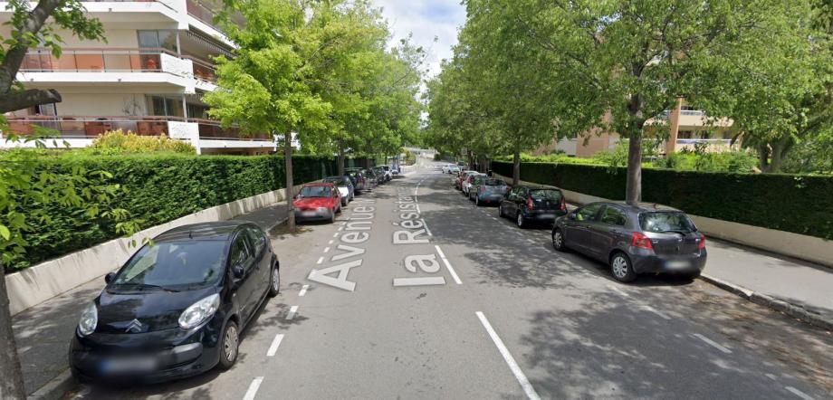 L'avenue Martyrs-de-la-Résistance à Antibes.