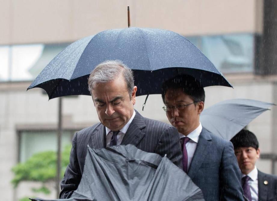 L'ex-PDG de Renault-Nissan Carlos Ghosn, à son arrivée au tribunal de Tokyo, le 24 juin 2019.