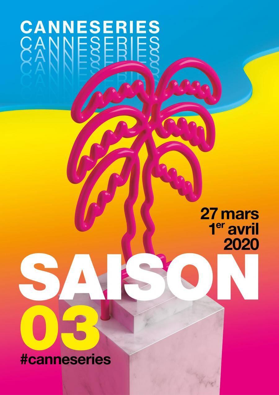 L'affiche de la troisième saison de CanneSeries.