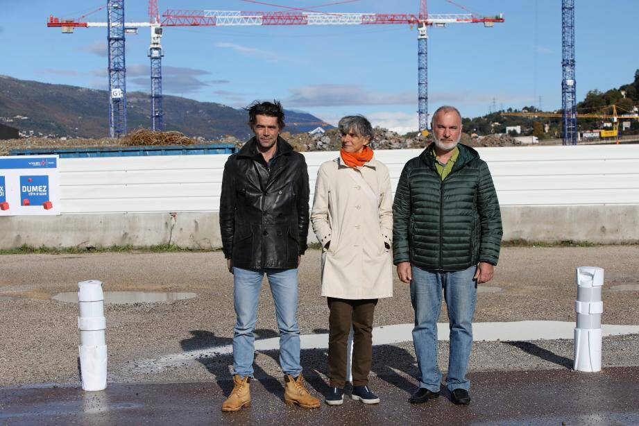 Fabrice Decoupigny, Hélène Granouillac et Jean-Marc Governatori.