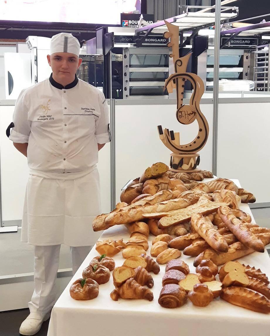 Stanislas Hedel, meilleur apprenti boulanger de France.