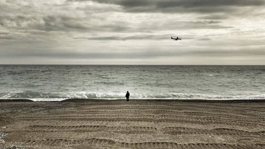 Le mauvais temps à Nice.