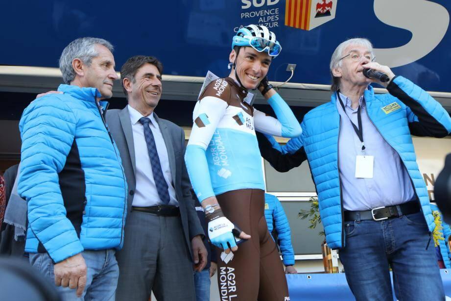 Romain Bardet lors départ du tour du Haut Var Nice-Matin.