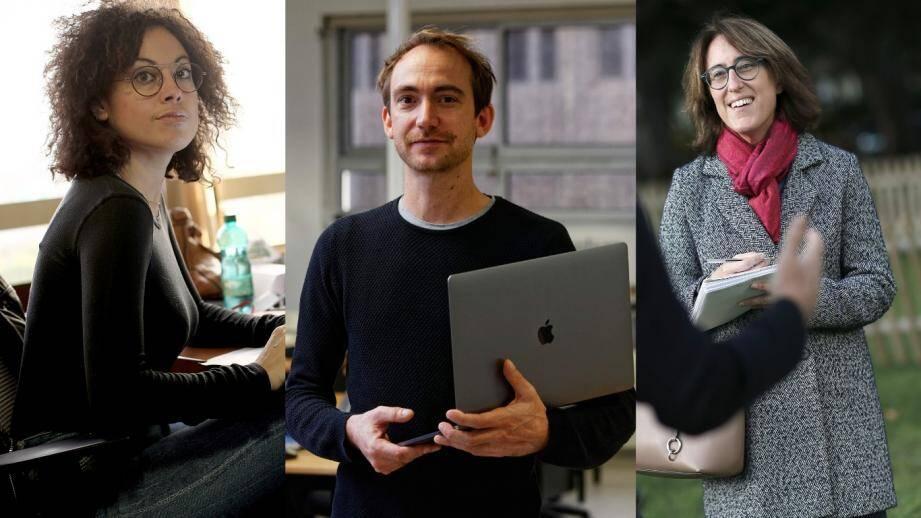 Aurore Malval, Guillaume Aubertin et Sophie Casals, journalistes #Solutions pour le groupe Nice-Matin.