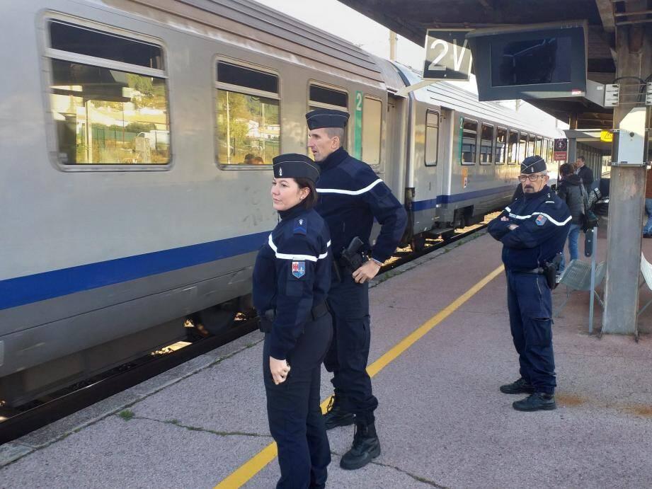 La gendarmerie veut un engagement fort dans les gares et leurs abords.