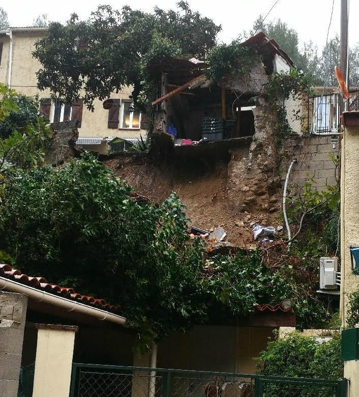 Nouvel effondrement dans le quartier de la Madeleine à Nice.
