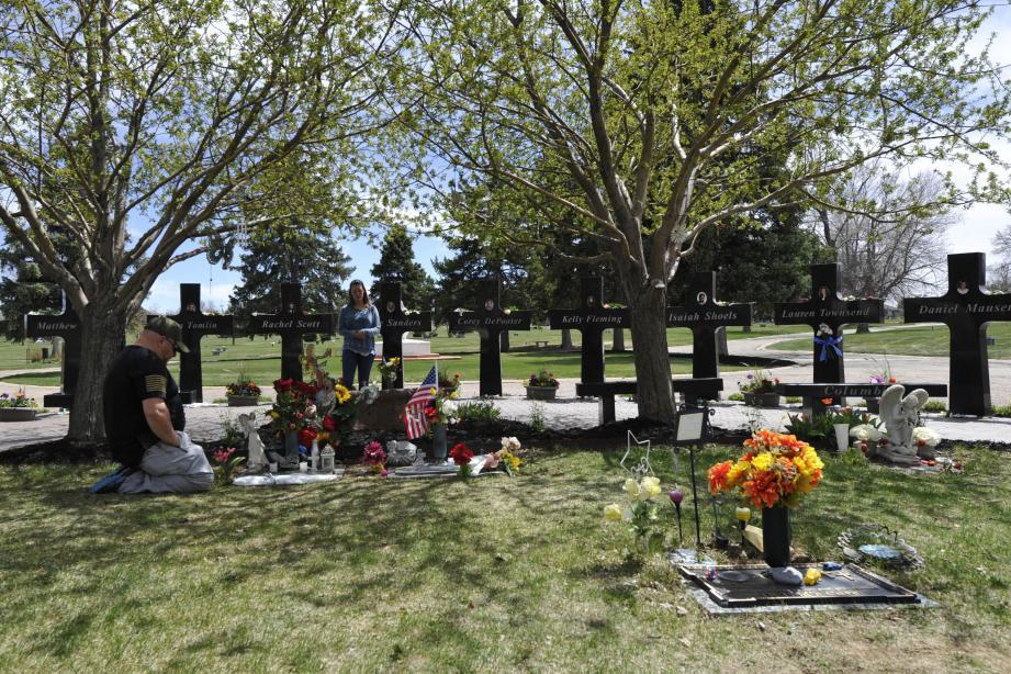 Le mémorial des victimes de la tuerie de Columbine, dans le Colorado.