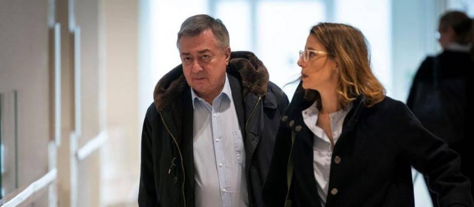 Olivier Barberot, l'ex-DRH de France Télécom, arrive pour le premier jour du procès en mai.
