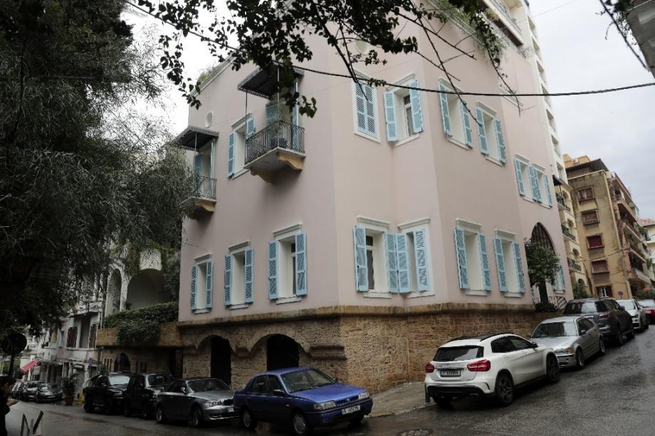Maison dans un quartier aisé de Beyrouth le 31 décembre 2019, propriété de Carlos Ghosn, selon des documents transmis à la justice.