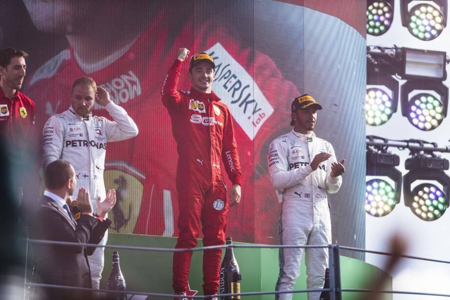 Son oncle : « J'en ai encore des frissons de le voir sur le podium à Monza. » (©Ferrari)