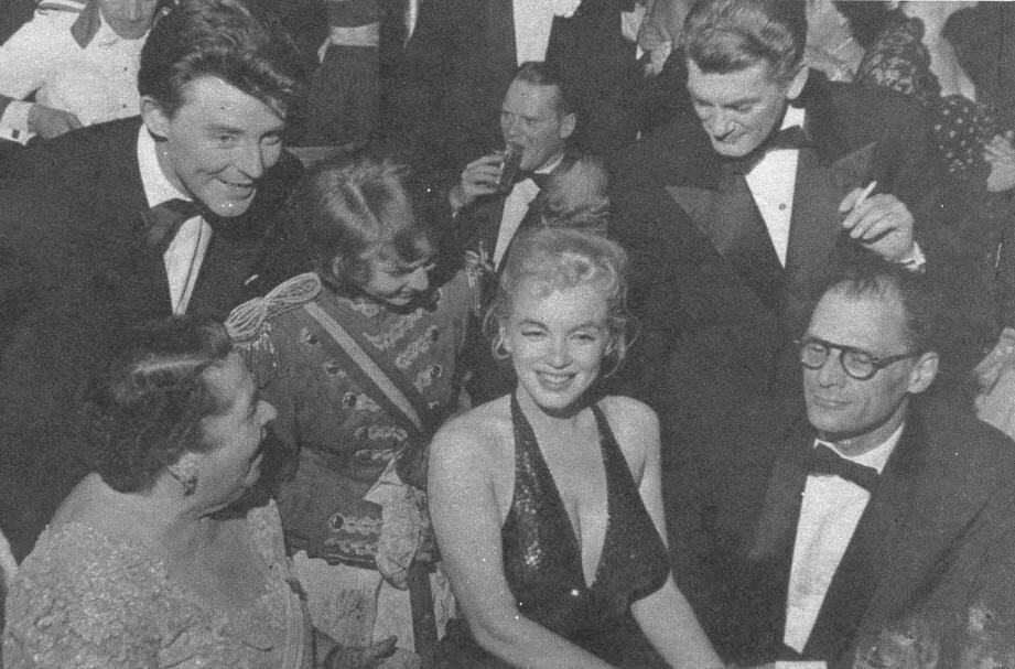 Parmi les rencontres marquantes, celle avec Marilyn Monroe en avril 1957, lors d'une  soirée new-yorkaise célébrant le 200e anniversaire de La Fayette, où était également convié Jean Marais.