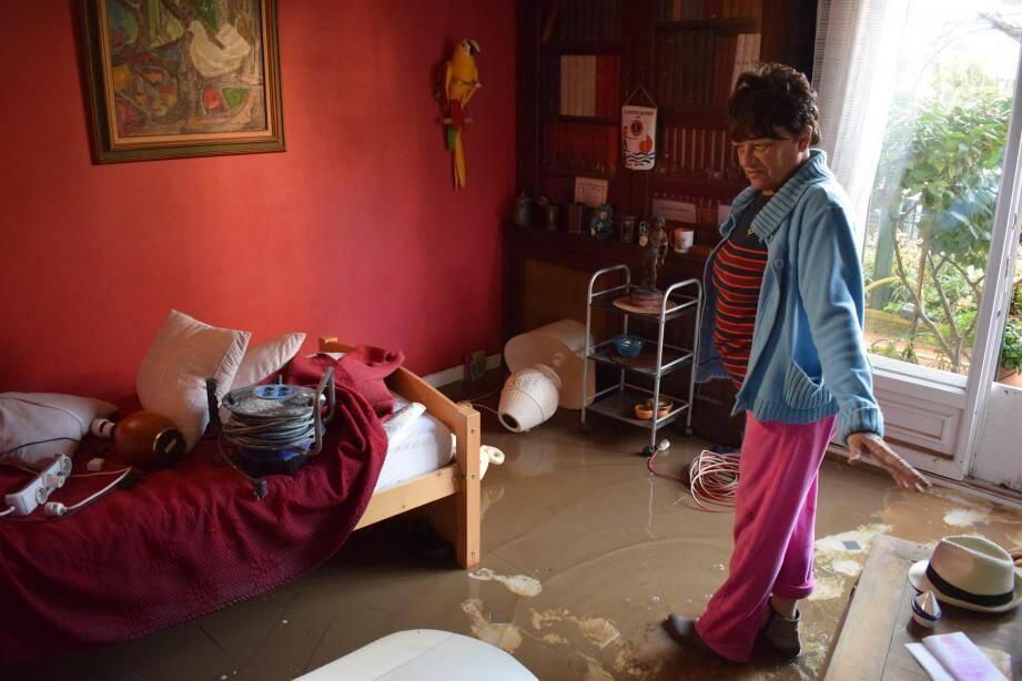 Au Devens, la maison d'Isabelle a été touchée par les inondations du week-end dernier.